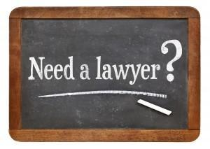 Board with Need a Lawyer Writed