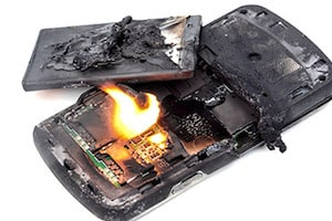 Burned Cellphone