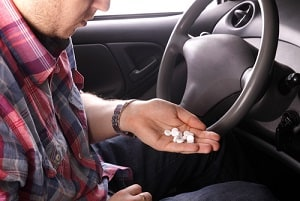 Driver with Drug Pills