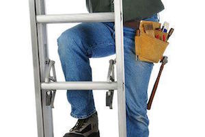 Worker in a Ladder